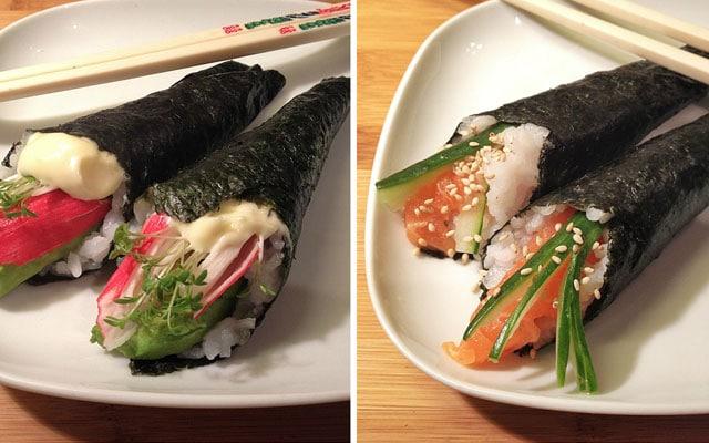 Sushi Handroll - California & Zalm Handroll
