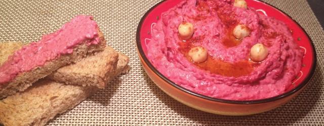 Tapas & Bites: Hummus met Rode Biet