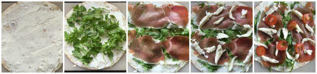 Italiaanse Lunch Wraps met Mozzarella, Prosciutto & Rucola