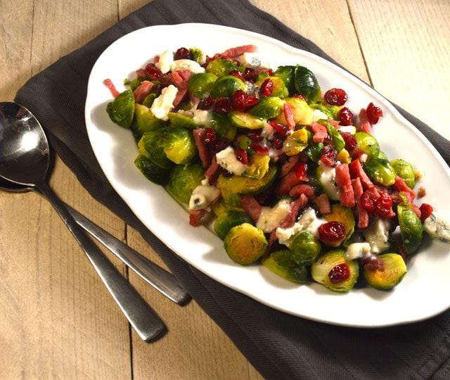 Spruitjes met Cranberry & Gorgonzola