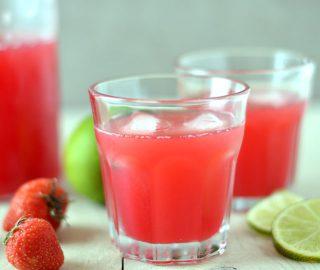 Aardbeien Limoen Water