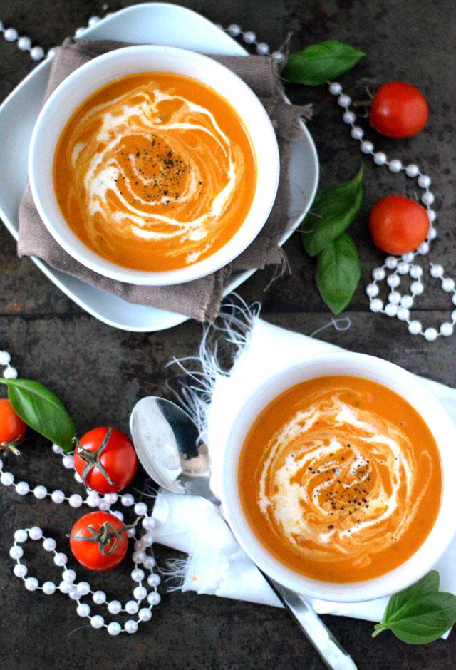 Romige Tomatensoep met Zongedroogde Tomaten