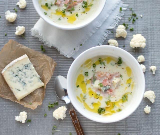 Bloemkoolsoep met gorgonzola