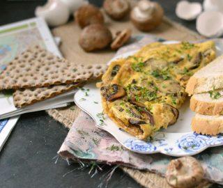 Omelet met champignons en kaas - Eef Kookt Zo