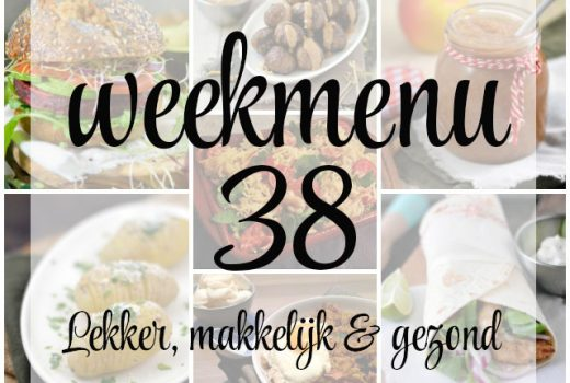 Lekker, makkelijk en gezond weekmenu – week 38