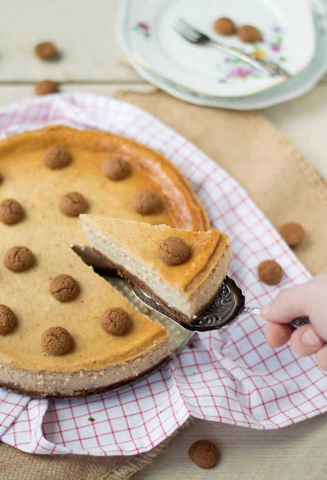 Pepernoten cheesecake