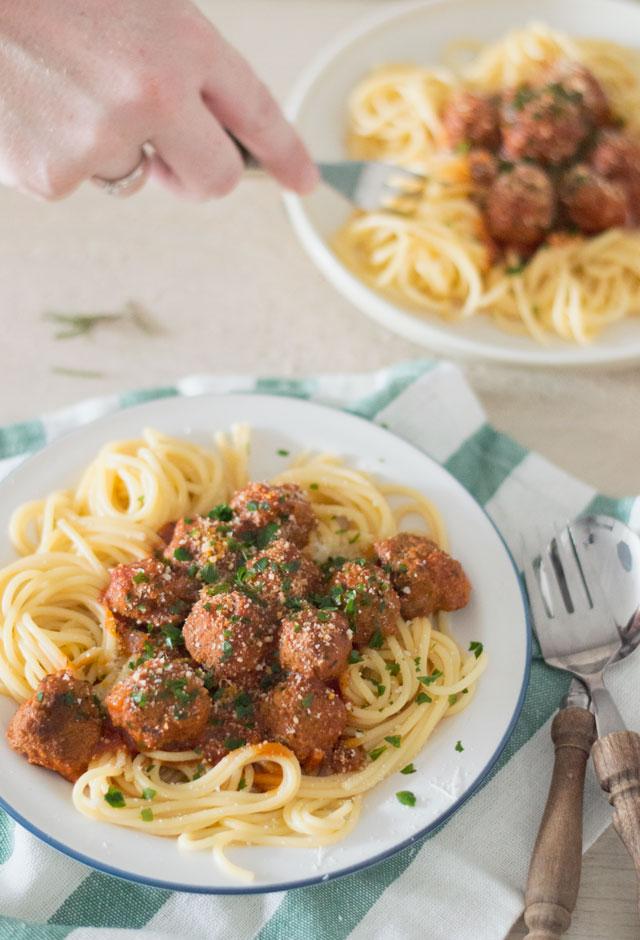 Spaghetti met gehaktballetjes