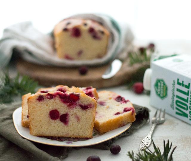 Cranberry yoghurt cake met Vecozuivel yoghurt