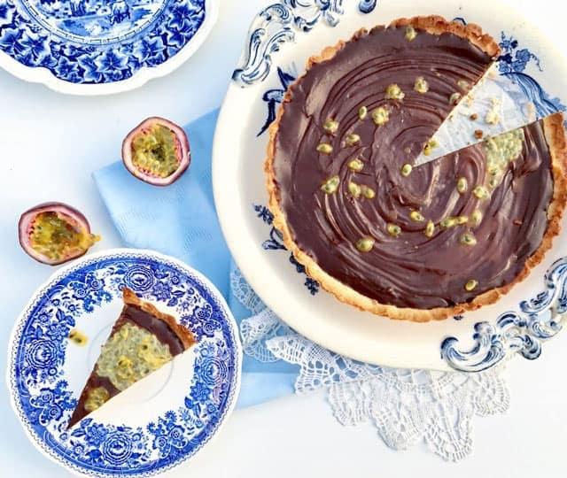 Valentijn recept: Chocoladetaart met passievrucht