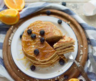 Pancakes met havermout en yoghurt