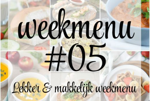 Lekker en makkelijk weekmenu – week 5