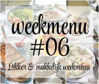 Lekker en makkelijk weekmenu – week 6q