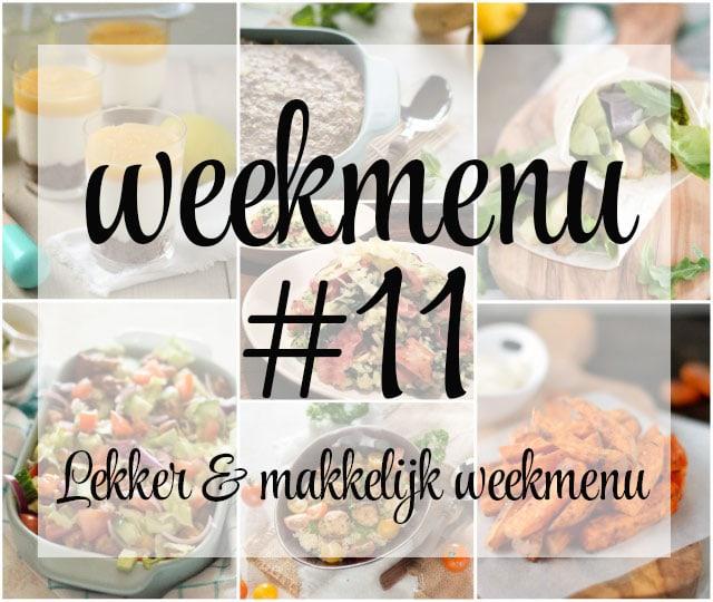 Lekker en makkelijk weekmenu – week 11