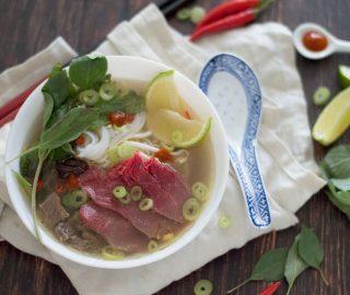 Pho Bo Vietnamese noedelsoep
