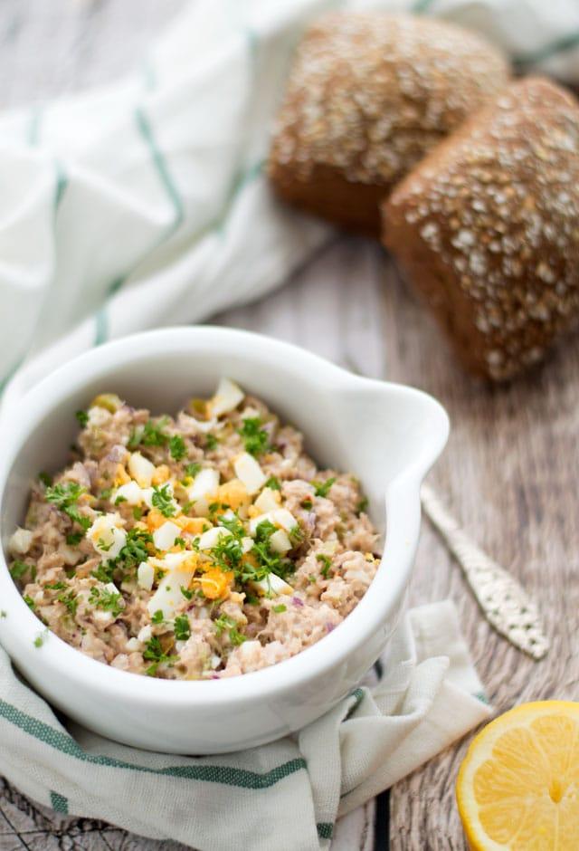Tonijnsalade voor op toast of een cracker