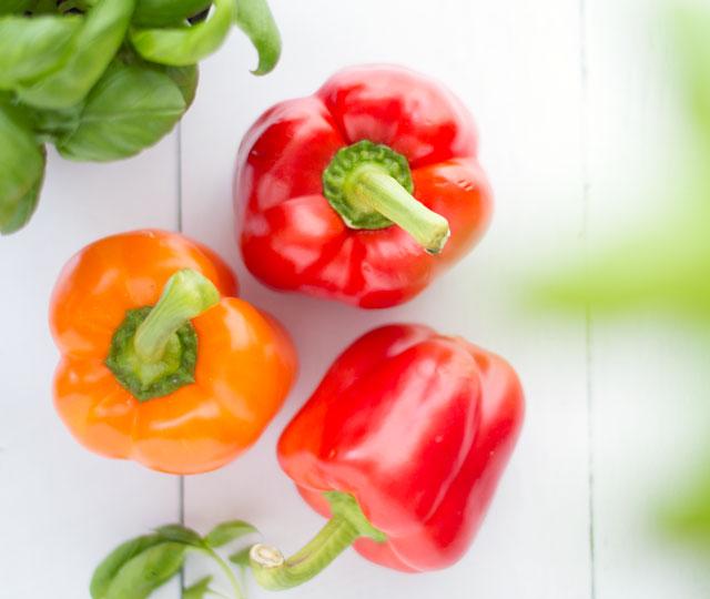 Paprika rood en oranje