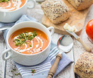 Paprikasoep met tomaat