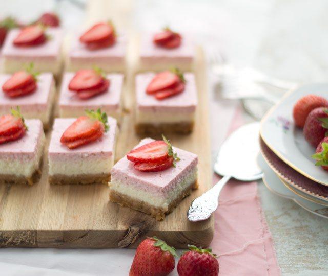 Aardbeien cheesecake met yoghurt