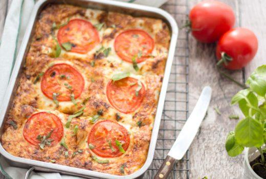 Lasagna met spinazie, ricotta en zalm