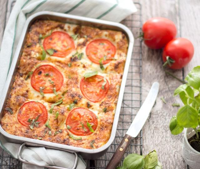 Lasagne met spinazie, ricotta en zalm