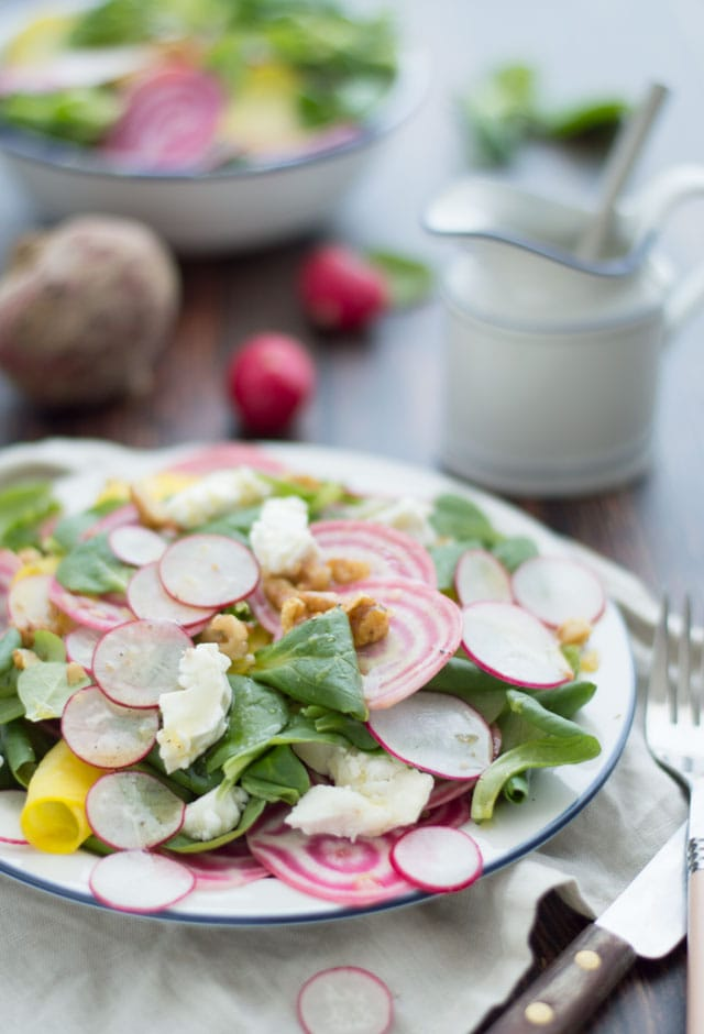 Rauwe bieten salade