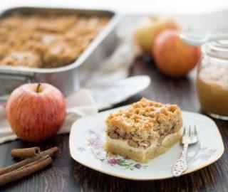 Appelkruimelcheesecake met karamel