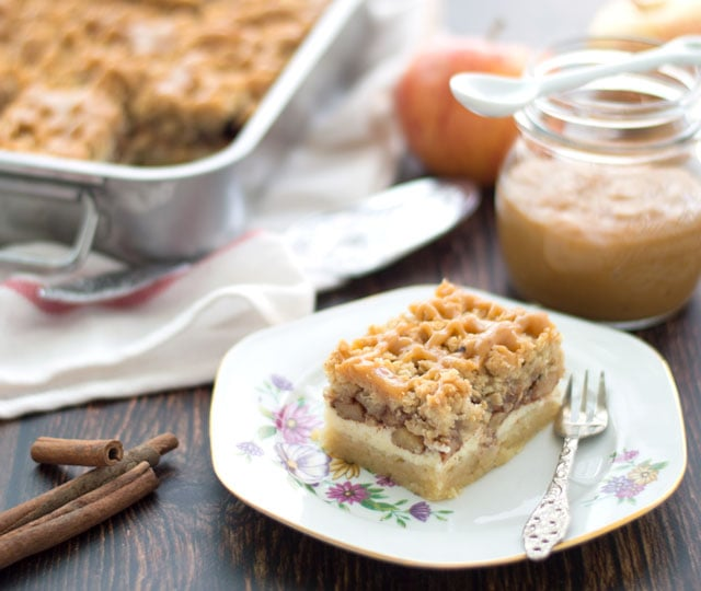 Cheesecake met appelkruimel