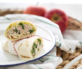 Wrap met tonijn en appel