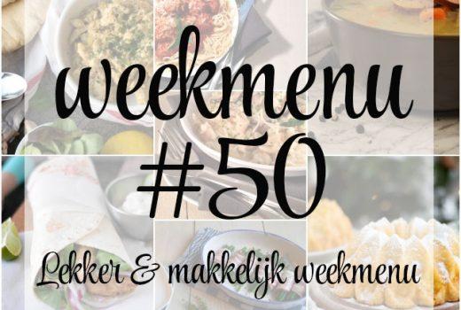 Lekker en makkelijk weekmenu – week 50