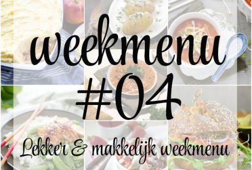 Lekker en makkelijk weekmenu – week 4