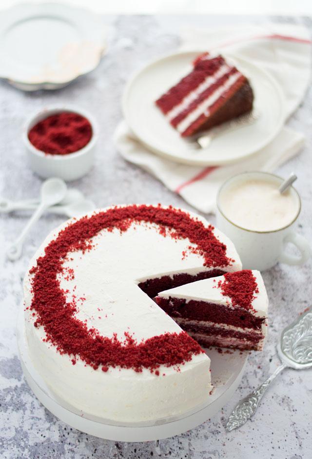 Red Velvet cake taart zelf maken