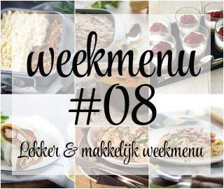 Lekker en makkelijk weekmenu – week 8