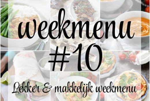 Lekker en makkelijk weekmenu – week 10