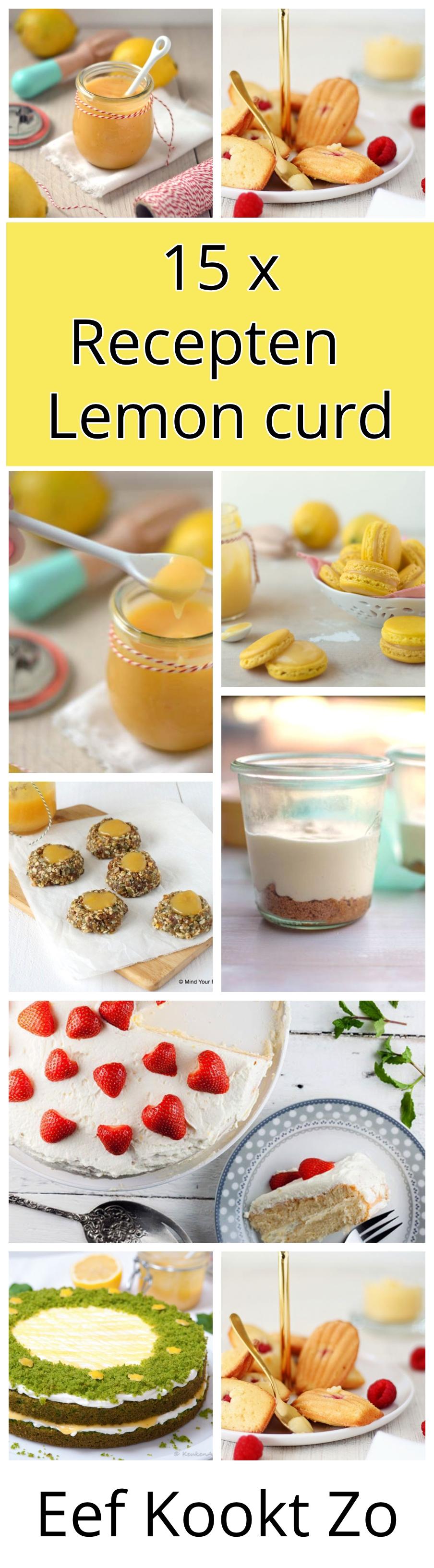 15 x recepten met Lemon Curd op een rij