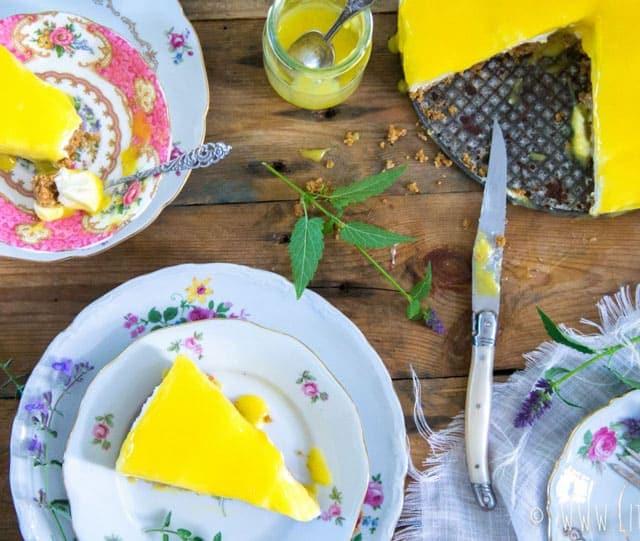 Cheesecake met lemon curd