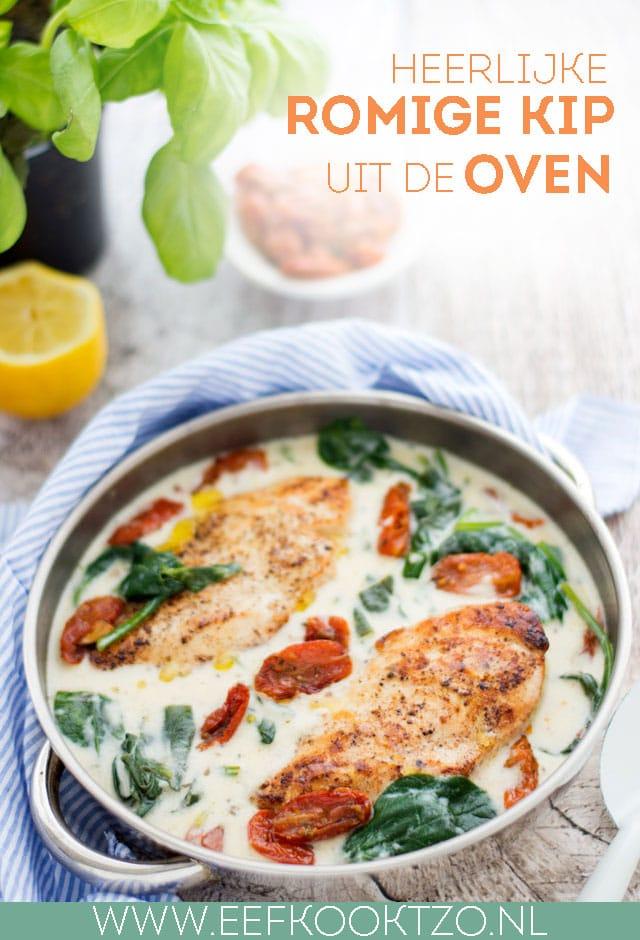 Romige kip uit de oven Pinterest