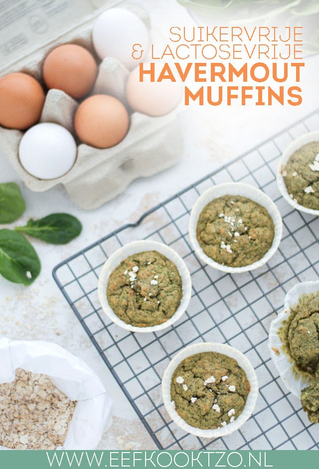 Havermout muffins Pinterest Collage