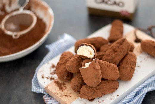 Slagroomtruffels met cacao