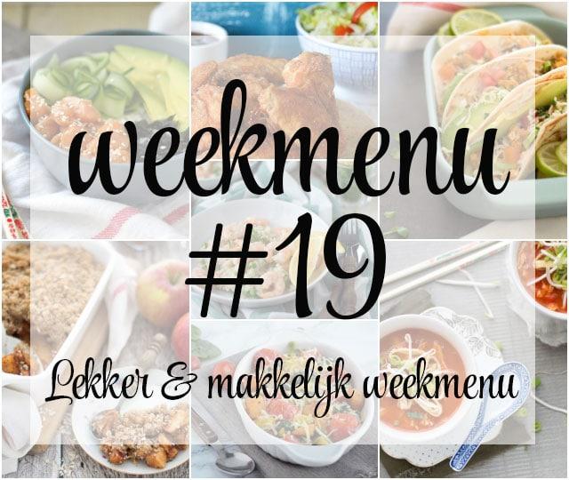 Lekker en makkelijk weekmenu – week 19