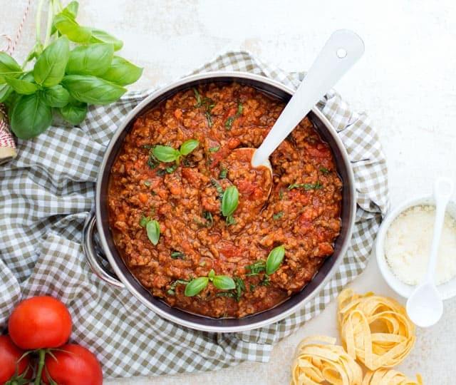 Klassieke bolognese saus