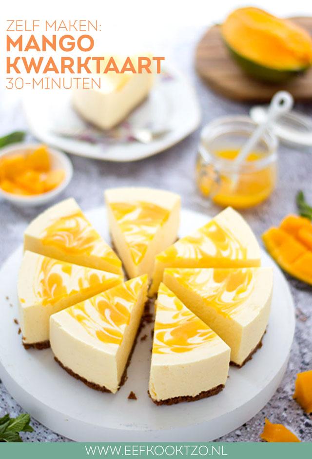Mango kwarktaart Pinterest