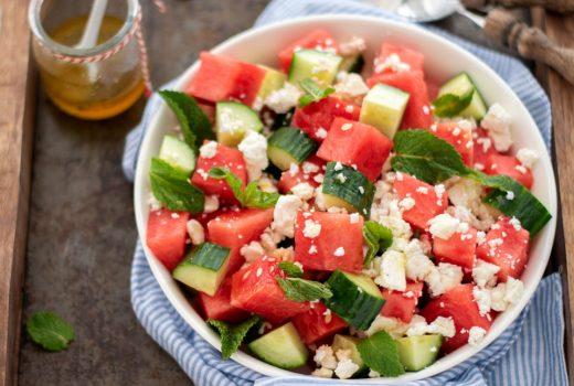 Watermeloen salade met feta