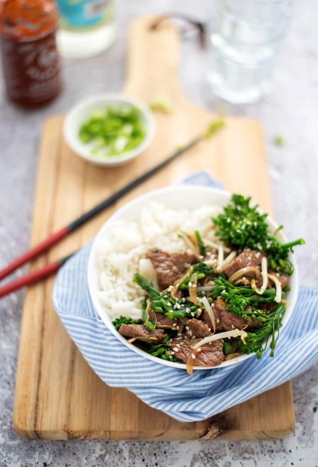 Wok recept met biefstuk