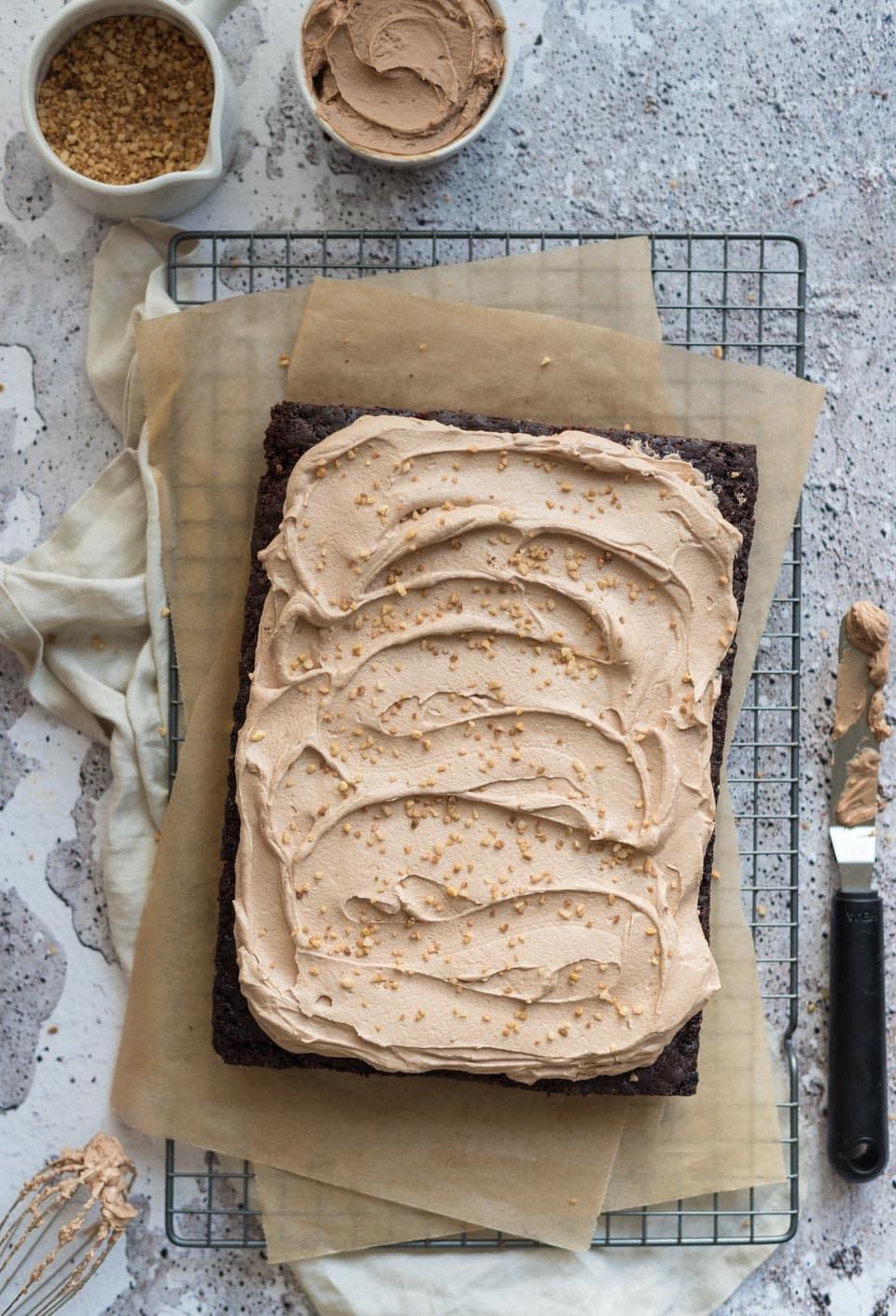 Chocolade plaatcake