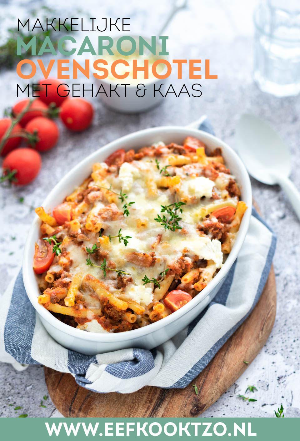 Macaroni ovenschotel met gehakt Pinterest Collage