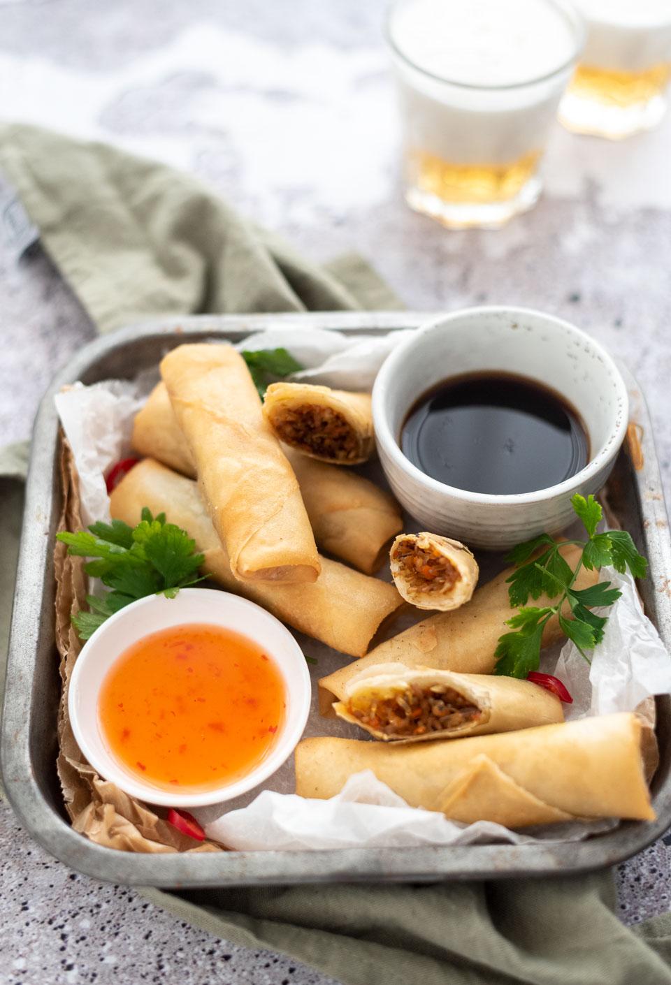 Vietnamese loempia's met kip