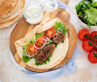 Wraps met kofte kebab