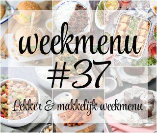 Lekker en makkelijk weekmenu – week 37
