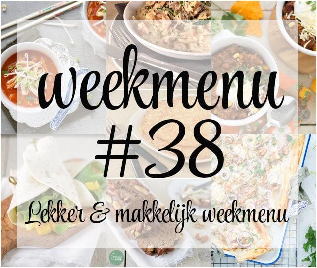 Lekker en makkelijk weekmenu – week 38