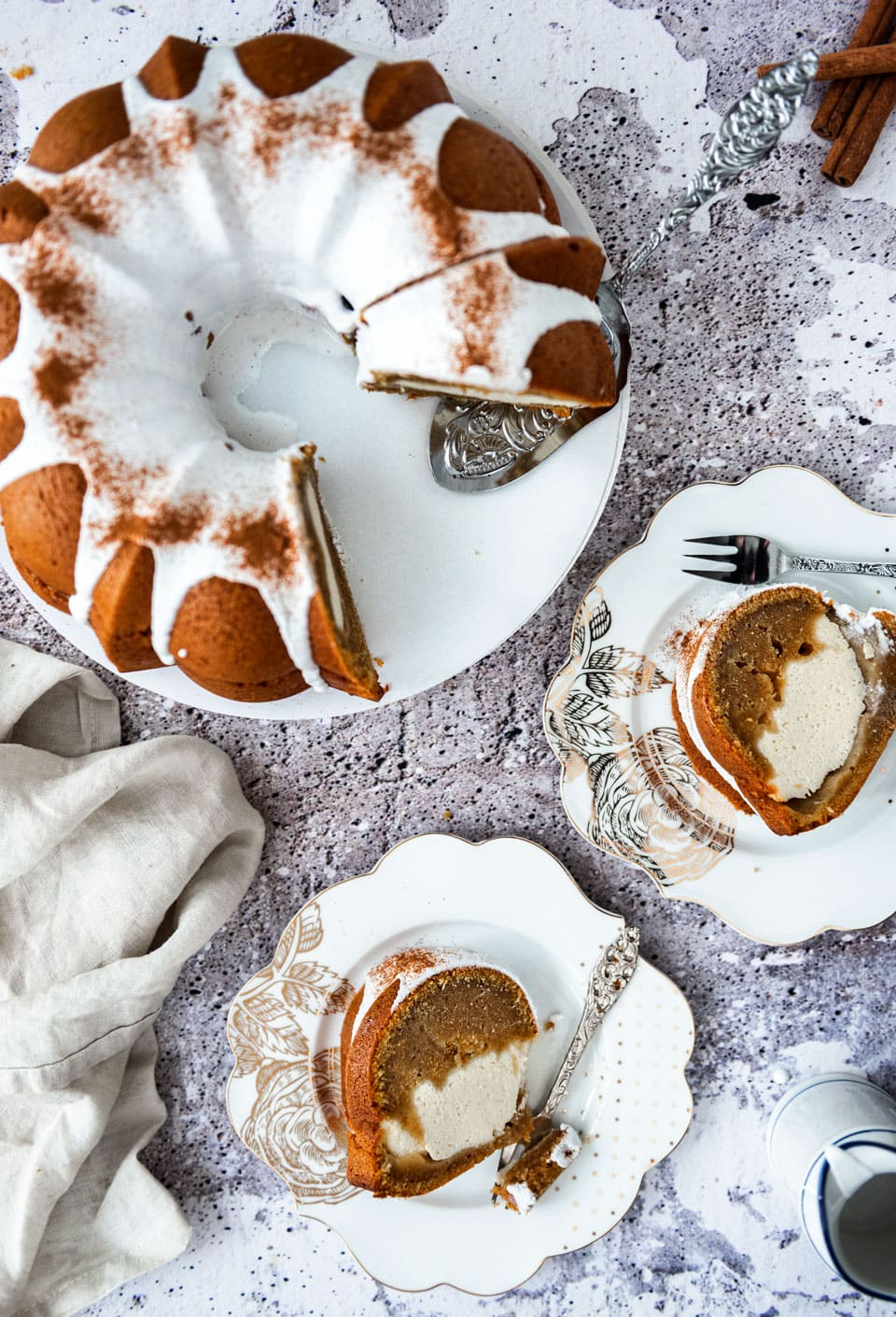 Pompoencake in tulbandvorm